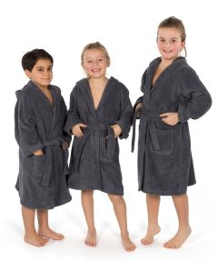 Linum Kids Hooded Unisex Terry Bathrobe