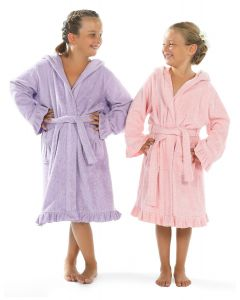 Linum Kids Hooded Terry Bathrobe for Girls